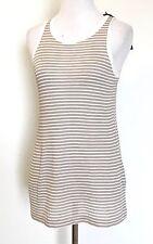 AllSaints Taupe & Cream Evis Bar Vest Top NWT Retail $50 Price $32 All Saints L