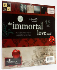 DCWV Premium Stacks, Immortal Love with Sparkle, 48 Sheets, 12 x 12 inches