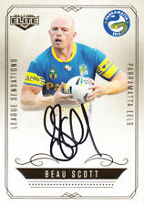 2017 NRL ELITE LEAGUE SENSATIONS SIGNATURE CARD LS10 BEAU SCOTT PARRAMATTA #118