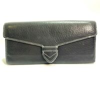 Cole Haan Black Leather Clutch Wallet Purse Handbag Card Organizer Accessory