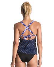 Size S/8 Womens Roxy Womens Tankini Bikini Swim Tank Top New - Blue