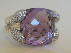 $1750 DAVID YURMAN AMETHYST COCKTAIL DIAMOND RING