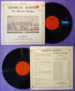 LP 33 Giri CHARLIE BARNET In Disco Order, Volume 23 Ajaz Swing Jazz no cd mc dvd