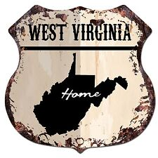 Bp0163 Home West Virginia Map Shield Rustic Chic Sign Bar Shop Home Decor Gift