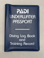 PADI Underwater Passport Vintage SCUBA Diving Log, Training Record & Data Slates