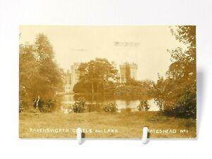 1908 RP Postcard Ravensworth Castle & Lake Gateshead No.1