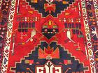 "5'x12'9"" Authentic Handmade wool Birds Oriental Antique Gallery area rug runner"