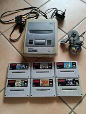 Nintendo Snes Konsole mit 6 Spielen, Super Mario, Zelda, Harvest moon uvm
