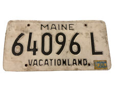 Vintage 1987 Maine License Plate #64096L. Vacationland Crummy Condition.