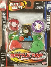 Battle Top Similar Beyblade Metal Fusion launcher Spinning L-drago, flame 2 pack