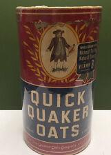 Early Original 1900--1920 Quick Quaker Oats Box 3 lb