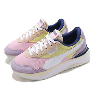 Puma Cruise Rider Silk Road Wns Purple Pink Yellow Women Casual Shoes 375072-01