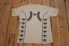 Vintage ADIDAS Beige Trefoil Sports Stretch T Shirt Tee | Retro Original | Large
