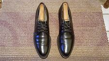 FOOTJOY CLASSICS VINTAGE MEN OXFORDS # 10 4A SOLID BLACK LEATHER MADE IN USA.