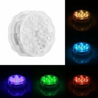Waterproof LED RGB Submersible Light Christmas Wedding Party Vase Lamp Remote C