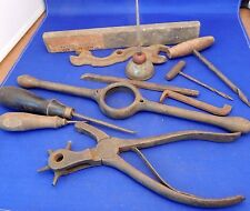 LOT OF 11 OLD VINTAGE ANTIQUE HAND TOOLS