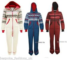 Ladies Aztec One Piece Hooded Women's All In One Zip Front All In Jumpsuit 8-14