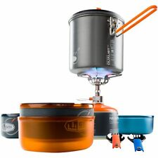 GSI Outdoors Pinnacle Dualist Kit! Camping Camp Halulite Complete Stove Cook