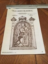 Old Irish Blessing Music by Denis Agay  Sheet Music Vintage 1970