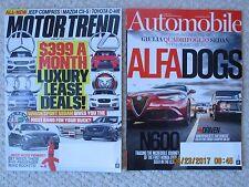 Motor Trend June 2017 + Automobile June 2017 + bonus back issues (6 magazines)