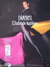 PUBLICITÉ 1988 COLLANT DIM DIAM'S L'HABIT DE LUMIÈRE - ADVERTISING