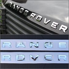 NEW (1 SET) RANGE ROVER CHROME HOOD OR TRUNK EMBLEM NAMEPLATE DECAL EM-114