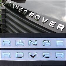 NEW (1 SET) RANGE ROVER CHROME HOOD OR TRUNK EMBLEM NAMEPLATE DECAL EM-114