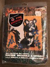 Vintage Red Heart Rug Pattern Skunk # 6607-13 NIP 15x15 Crafts Yarn