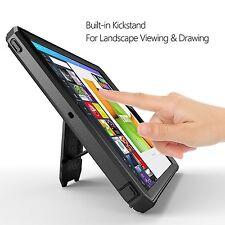 Case For iPad 9.7 (2017) POETIC【Revolution】Built-In Screen Protector Case Black
