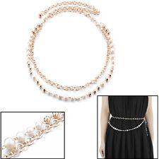 15mm Wide Pearl Beaded Elegant Waist Belt Ladies Party Wear Fashion Accessory