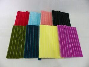 5 metres x 10mm  Velvet Ribbon: Select from 8 colourways