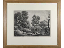 John Boydell 'A View Near To Sudbury, Suffolk' - Antique engraving print.