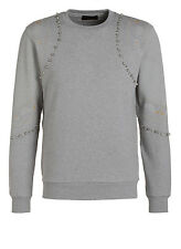 Diesel Black Gold Sunny-metazodiac Grey Sweater Size M 100 Authentic