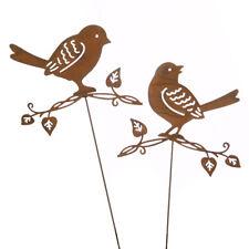 Blumenstecker Beetstecker Vogel lackiert rostbraun Garten 0671023333