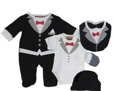 5 PC Baby Boys little gent baby clothes gift set party formal suit 0-3 months