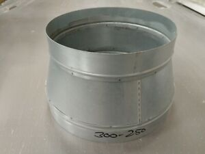 metal reducing duct 250mm - 300mm Grow Room Ventilation Duct Pipe Fan Ducting