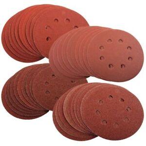 40 x Mixed Grit Sanding Discs 125mm For Bosch PEX 220/300 Random Orbital Sander