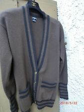100% Authentic Chanel Cashmere Cardigan Brown/black