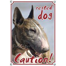 Pet Sign Bullterrier - Attention