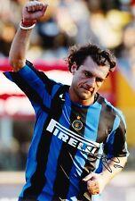 Christian VIERI SIGNED 12X8 PHOTO INTER MILAN & ITALIA Italia AFTAL COA (9140)