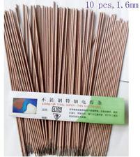 10 x1.6mm Arc Welding Rods Electrodes Stainless Steel 250mm Length Class E308-17