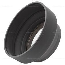 58mm parasol goma lens Hood para cámaras con 58 mm einschraubanschluss
