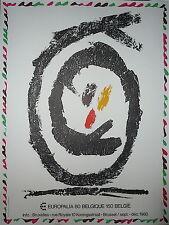 ALECHINSKY Pierre Affiche originale  Abstrait Festival des Arts Brussel 1980