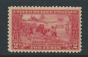 Bigjake: #618, 2 cent Lexington - Concord   MNH