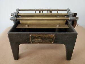 Vintage Working POTDEVIN Label Paster Gluer Letterpress Paper Duplexing