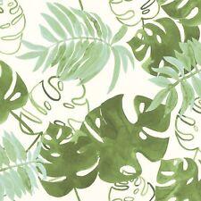 Rasch Textil Greenhouse Papel Pintado 138888 Tropical Hojas Blanco Verde Fieltro
