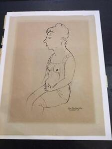 ORIGINAL PHOTO LITHOGRAPH TITLED LOUISE BY GEORGE GROSZ 1919