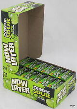 Now and Later Extreme Sour Apple Soft Candy Chews 24 Count Box (6-pc bars) Bulk