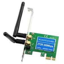 300Mbp Wireless 11N WiFi PCI-E Network Adapter LAN Card Dual Antenna Desktop PC
