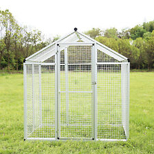 White Bird Cage Parrot Walk In Aviary Flight Play Top Pet House 75Lx51Wx77H New